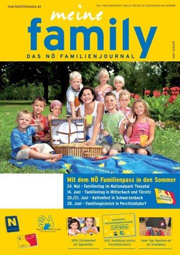 Mit dem NÖ Familienpass in den Sommer