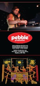 SIO Pebble Leaflet - Pebble Productions - Page 6