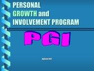 PGI Program Presentation - Georgia Optimist Resources