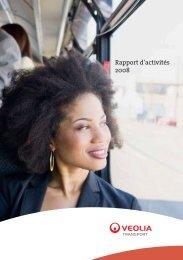 Rapport d'activités 2008 - Transport - Veolia Finance