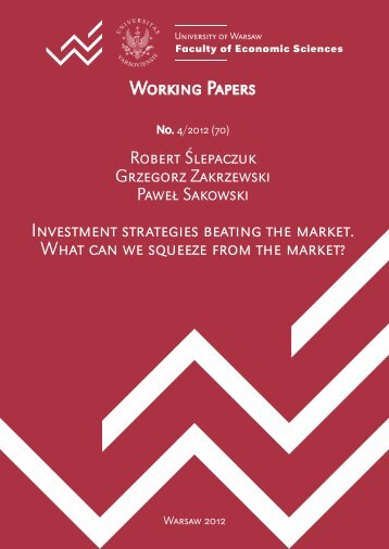 Investment strategies beating the market. What can we squeeze ...