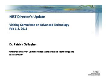 Agenda Review and NIST Update - National Institute of Standards ...