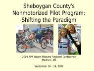 Federal Non-Motorized Pilot Program - American Planning ...