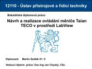 Návrh a realizace ovládání měniče Taian TECO v prostředí LabView ...