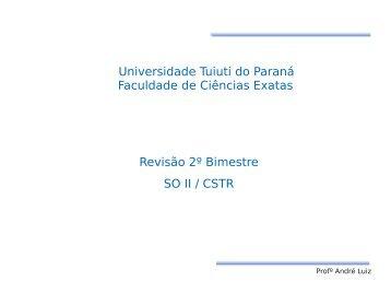 Revisão 2º Bimestre - Gerds - Universidade Tuiuti do Paraná