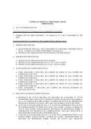 consello xerencia urbanismo, 30.04.03 orde do día - Concello de Vigo