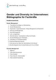 Gender und Diversity im Unternehmen - Gleichstellungs-Controlling
