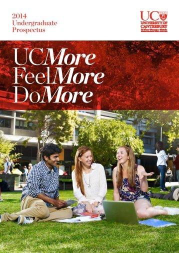 2014 Undergraduate Prospectus - University of Canterbury