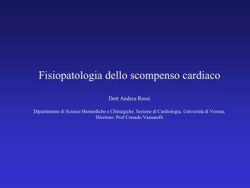 Fisiopatologia dello scompenso cradiaco - Cuorediverona.it