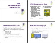ARM Architecture and Instruction Set - KTH