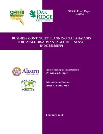 Business Continuity Planning Gap Analysis - Homeland Security ...