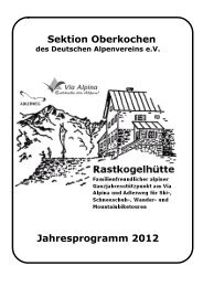 September 2012 - Deutscher Alpenverein e.V. Sektion Oberkochen
