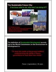 The Sustainable Future City - TAM - Northwestern University