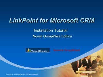 LinkPoint for Microsoft CRM - LinkPoint 360