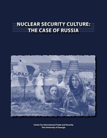 Security Culture Report_4PDF.indd - Nuclear Threat Initiative