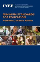 Minimum Standards for Education - the Sphere elearning tool