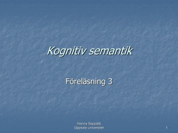 Kognitiv semantik - Uppsala universitet