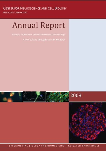 Annual Report of Activities CNC 2008 - Center for Neuroscience and ...