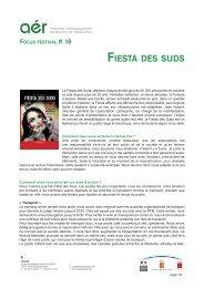 Focus#18 : Fiesta des suds (pdf) - Arcade PACA