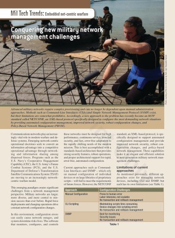 Conquering new military network management challenges