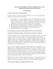 Comments of Ethiopian Civil Society Organisations ... - CRDA Ethiopia