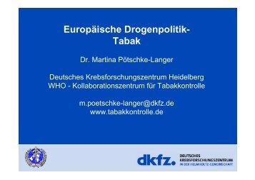Europäische Drogenpolitik- Tabak - Vivid