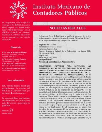 NOTICIAS FISCALES 21 - Instituto Mexicano de Contadores Públicos