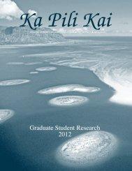 Ka Pili Kai Spring 2012 - Sea Grant College Program
