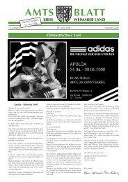 und Zuckertüten-Party 31. März –5. April 2008 - im Kreis Weimarer ...