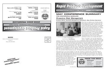 SPCD May'02 News Vol 9 #6 - Society of Concurrent Product ...
