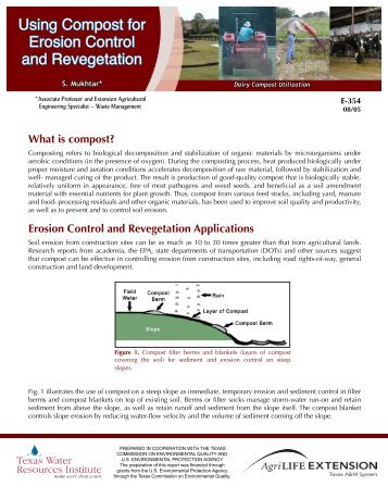 Using Compost for Erosion Control and Revegetation - Trinity Waters