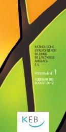 KEB-Programm Februar bis August 2012 - Bistum Augsburg