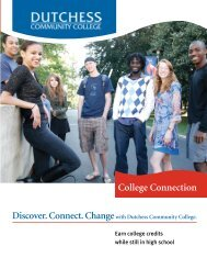 College Connection - Dutchess Community College