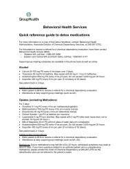 Quick Reference Guide to Detox Medications - Group Health ...