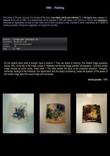 1994 – Painting - Daniel paradis - artiste
