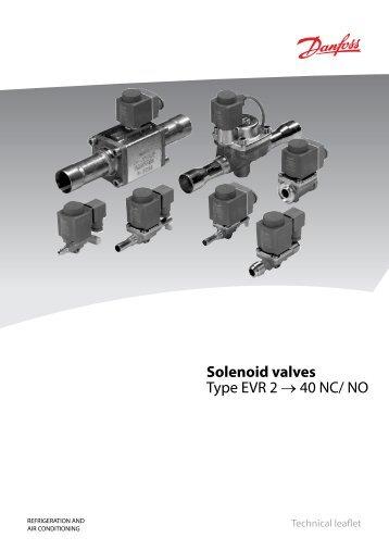 Solenoid valves Type EVR 2 → 40 NC/ NO