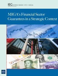 MIGA's Financial Sector Guarantees in a Strategic ... - World Bank