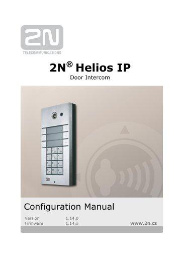2N® Helios IP Configuration manual version 1.14