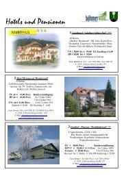 Hotels und Pensionen - Schwarzenberg am Böhmerwald ...