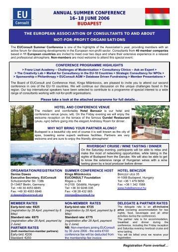 Programme and Registration Form - EUConsult