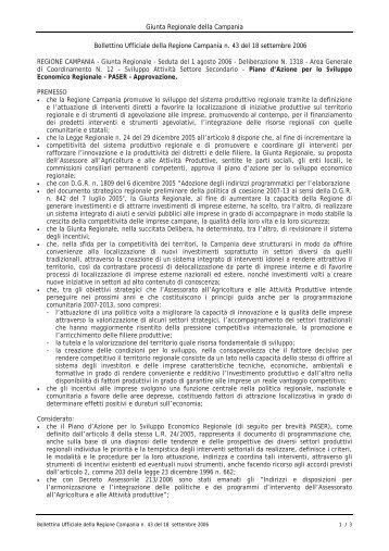 Piano d'Azione per lo Sviluppo Economico Regionale (PASER)
