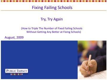 Fixing Failing Schools - Public Impact