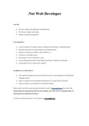 .Net Web Developer - Career Planning and Development Centre