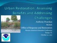 Urban Restoration - Restore America's Estuaries