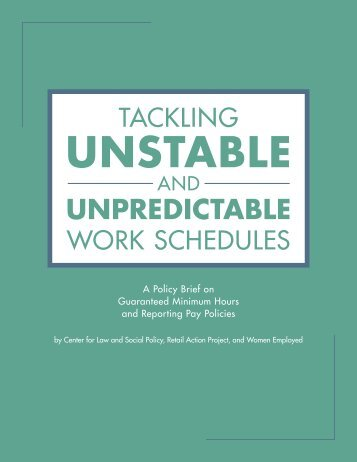 Tackling-Unstable-and-Unpredictable-Work-Schedules-3-7-2014-FINAL-1