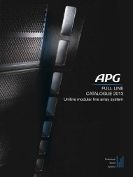 FULL LINE CATALOGUE 2013 - APG