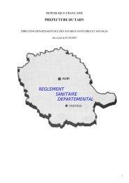 Règlement sanitaire départemental du Tarn
