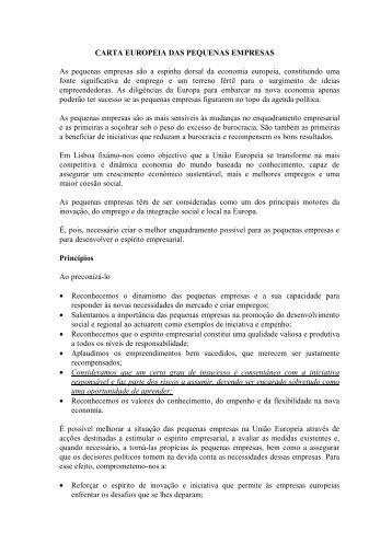 Carta Europeia das Pequenas Empresas - Europa