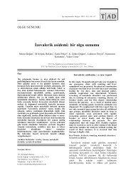 İzovalerik asidemi: bir olgu sunumu - Tıp Araştırmaları Dergisi