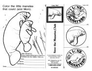 Letter and Coloring Sheet - Save the Manatee Club